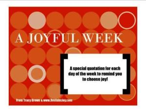 A JOYFUL WEEK EBOOK